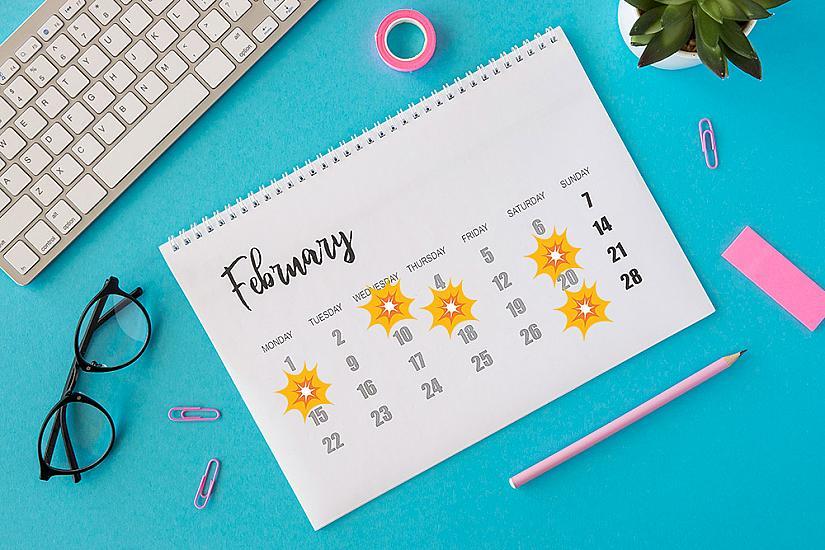 Опасни дати през месец февруари
